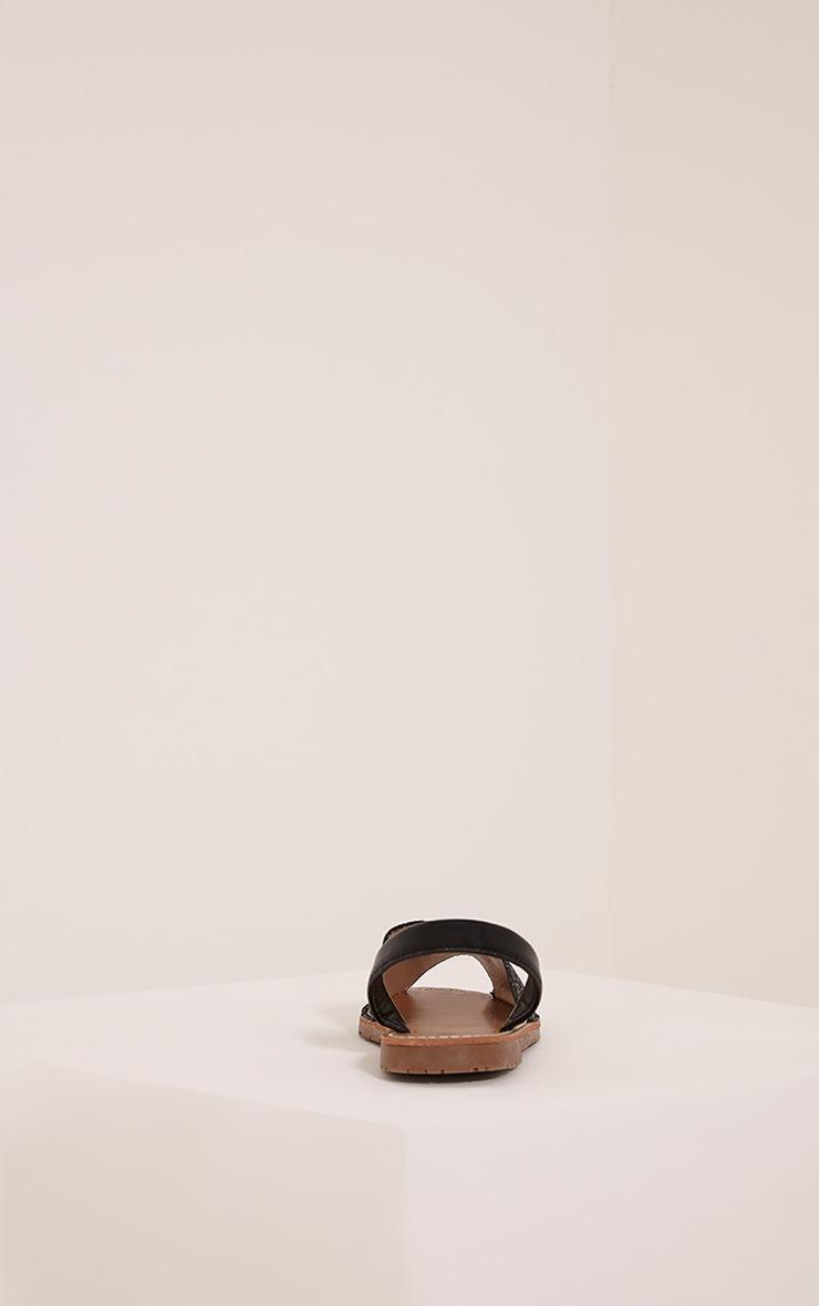 Luciana Black Glitter Sandals 4