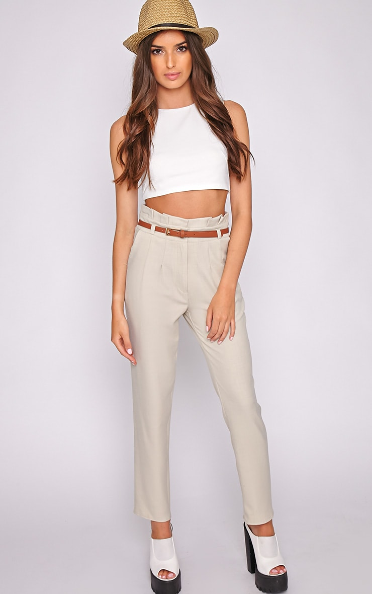Dolly Beige Tailored Trouser  1