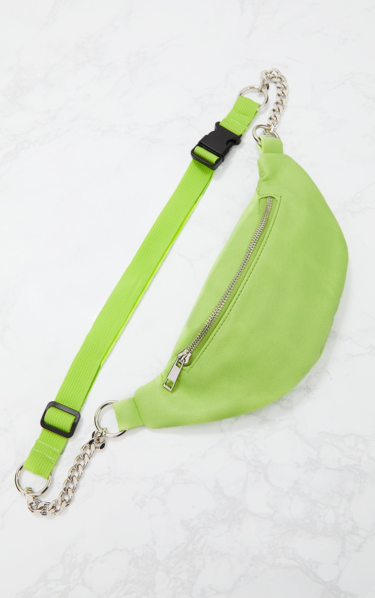 Lime Chunky Chain Bum Bag 3