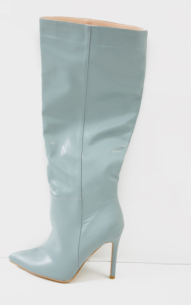 Mint  Knee High Stiletto Boots 3
