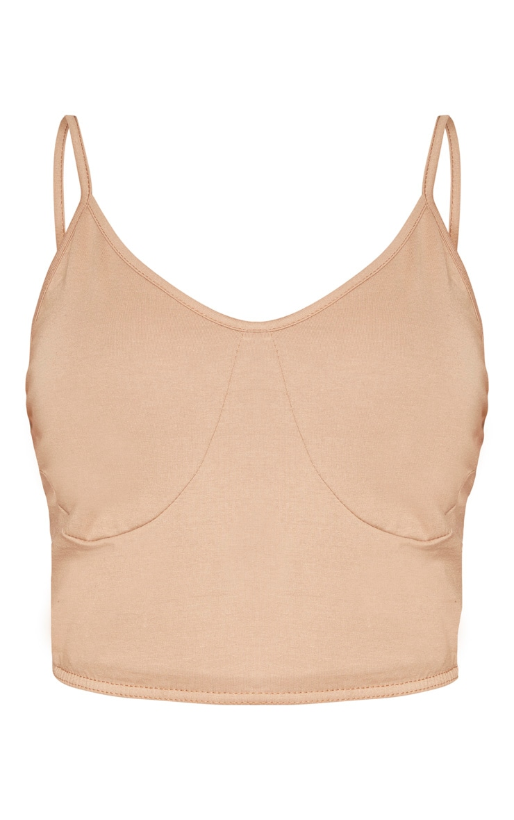 Shape Camel Fuller Bust Cup Detail Strappy Cami  3