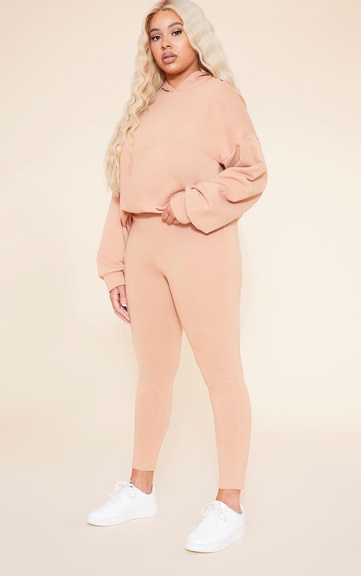 RECYCLED Plus Pale Tan Leggings 1