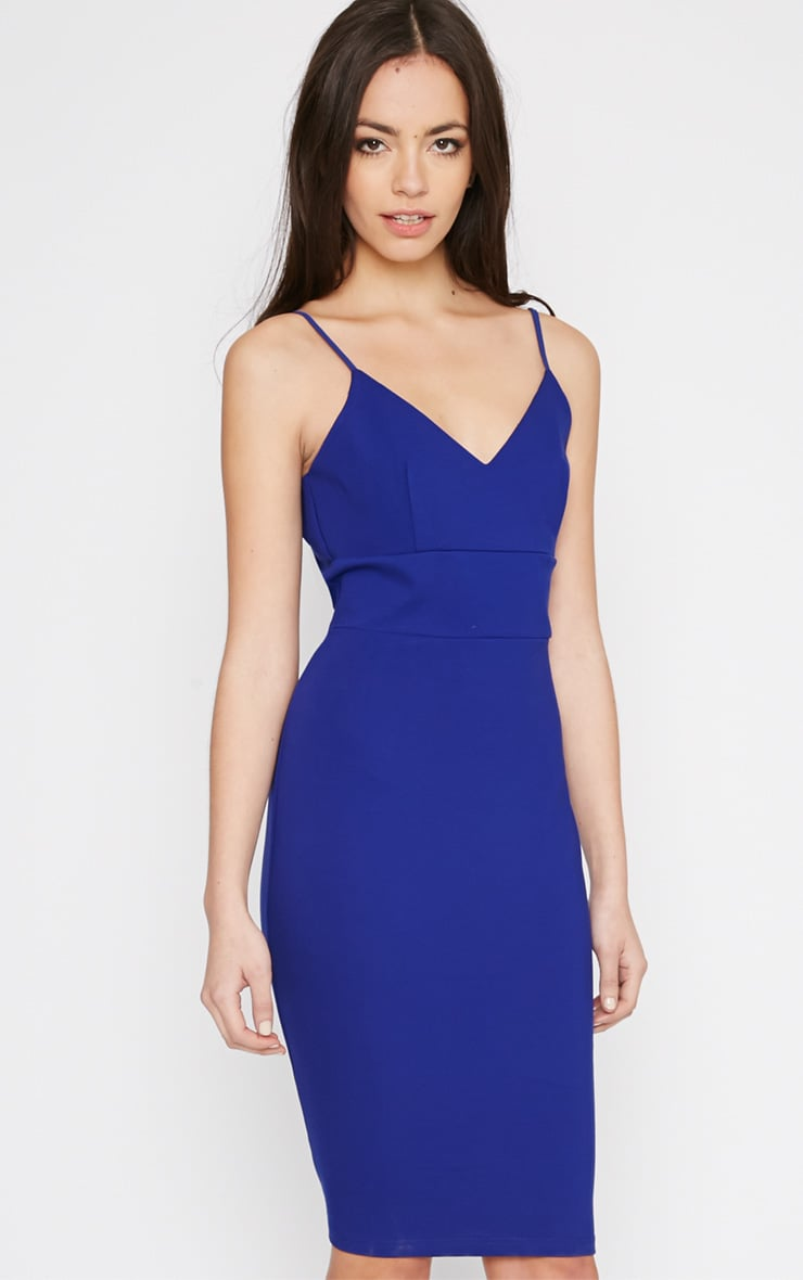 Zoey Cobalt Strappy Bodycon Dress 1