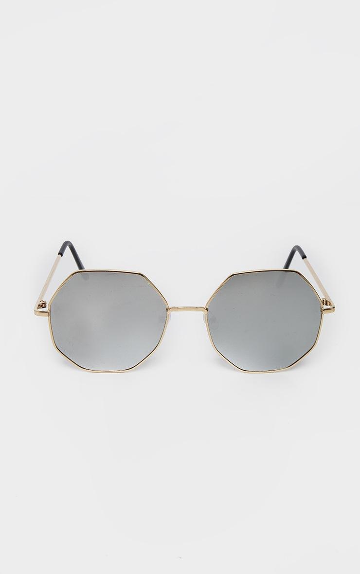 Silver Revo Octagon Oversized Sunglasses    2