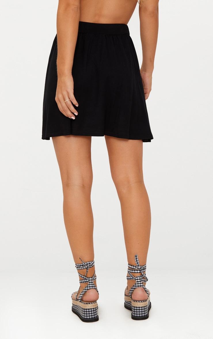 Black Jersey Floaty Mini Skirt 4