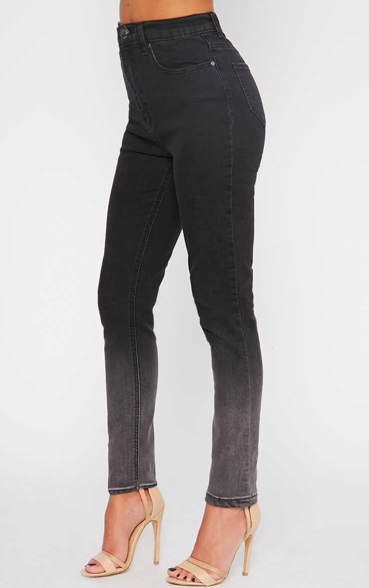 Bonnie Charcoal Mid Rise Ombre Skinny Jean 3