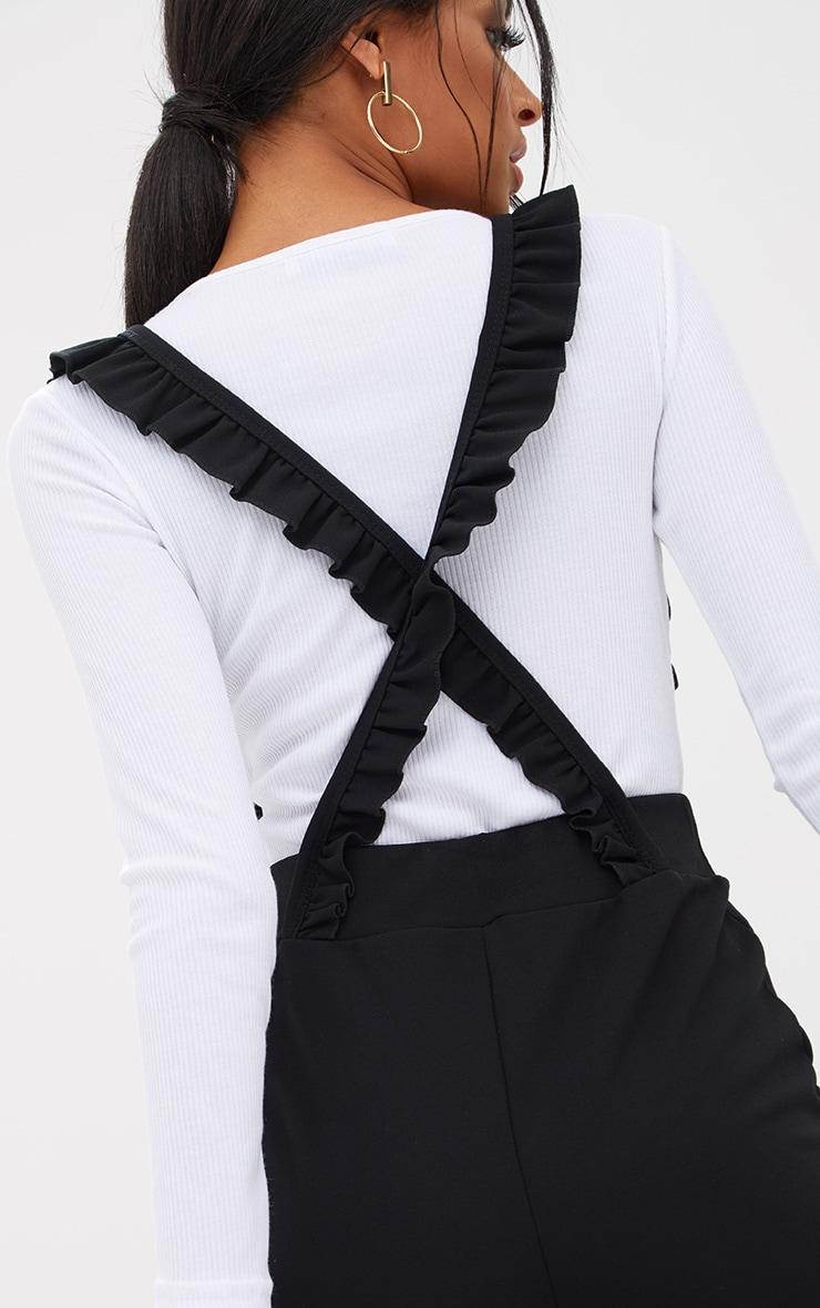 Black Frilly Brace Culottes 5