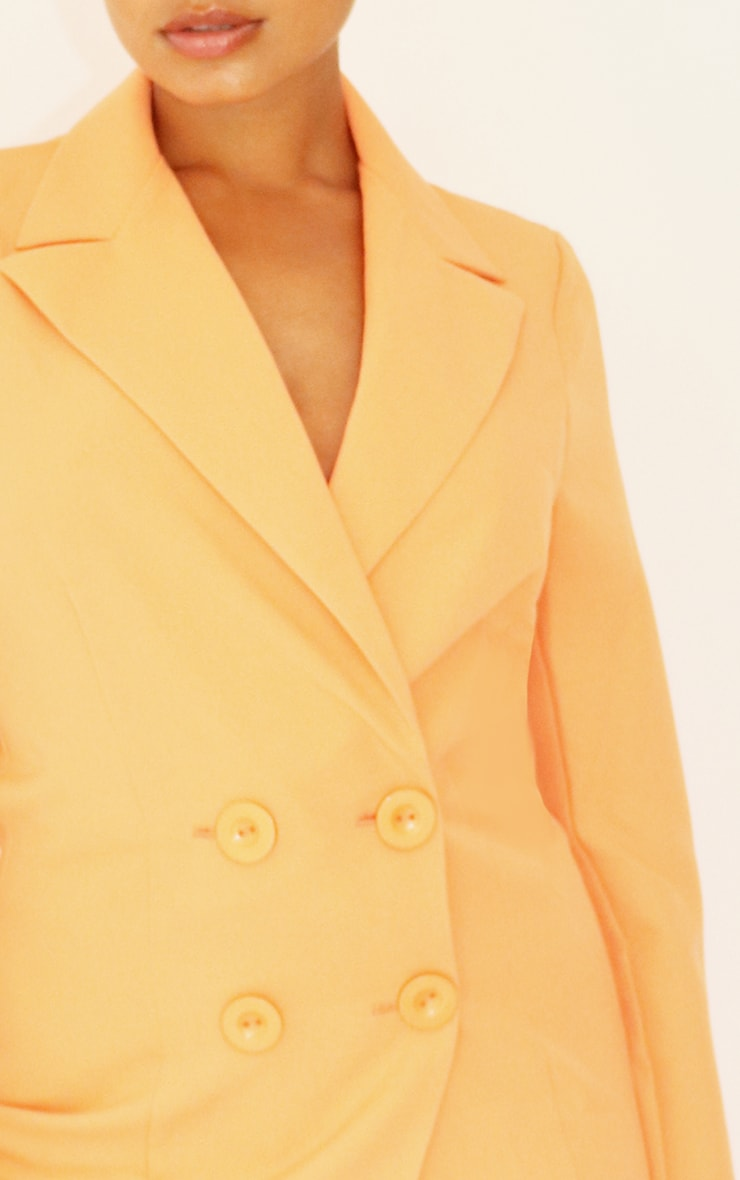 Petite Peach Button Front Oversized Blazer 4
