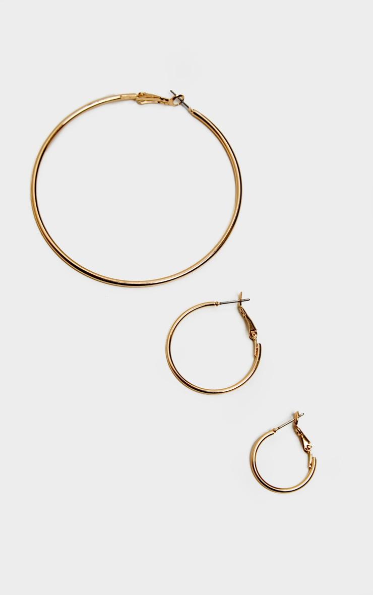 Gold Multi Pack Stud and Hoop Earrings 3