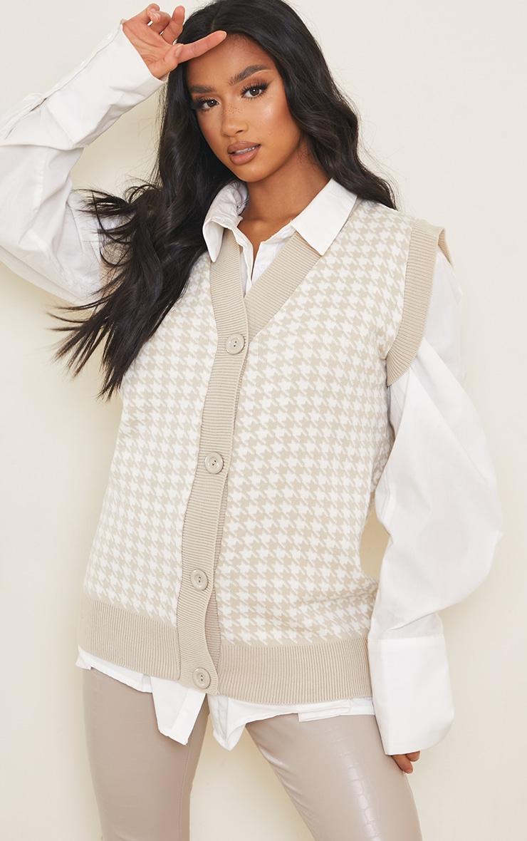 Petite Stone Button Through Sleeveless Vest 1