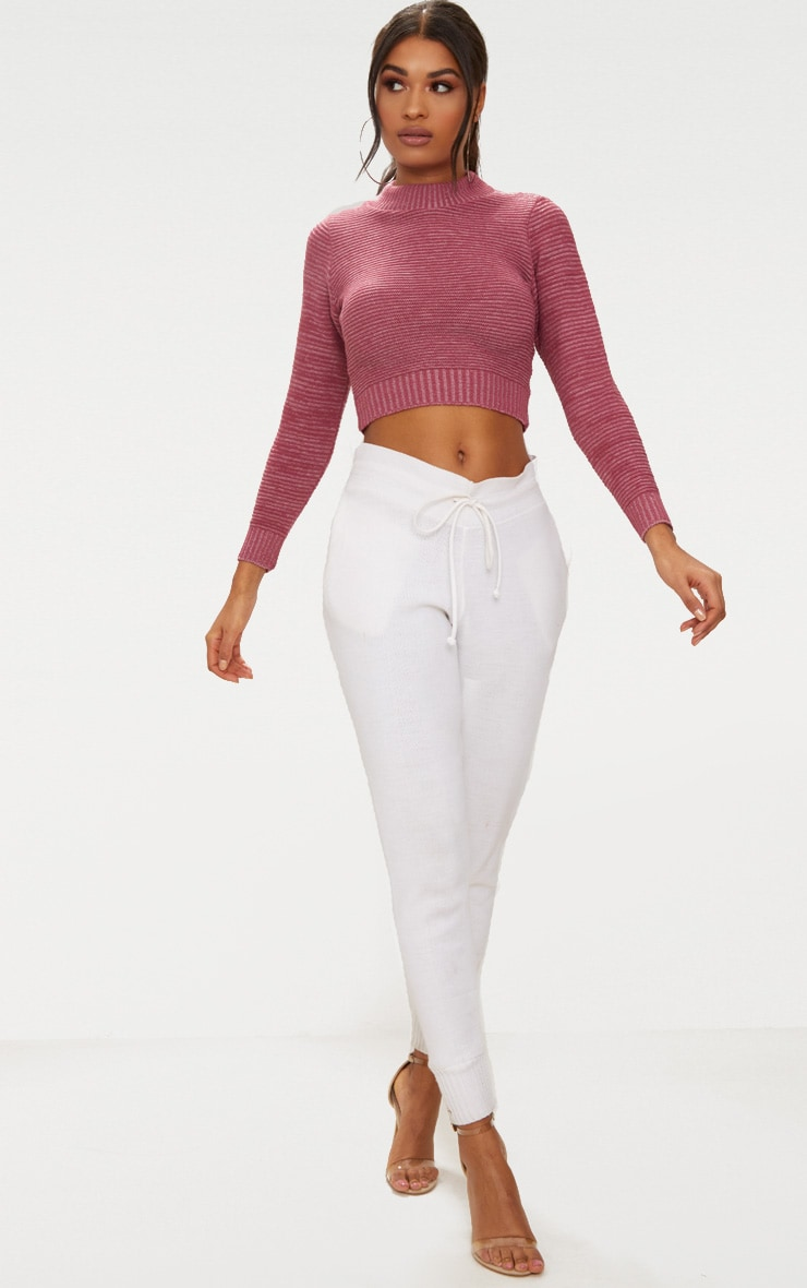 Rose Cropped Knitted Jumper 4