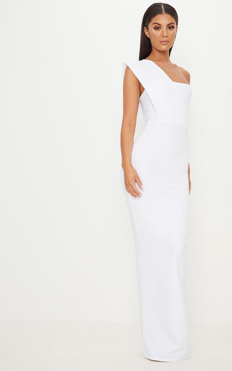 White One Shoulder Maxi Dress 3