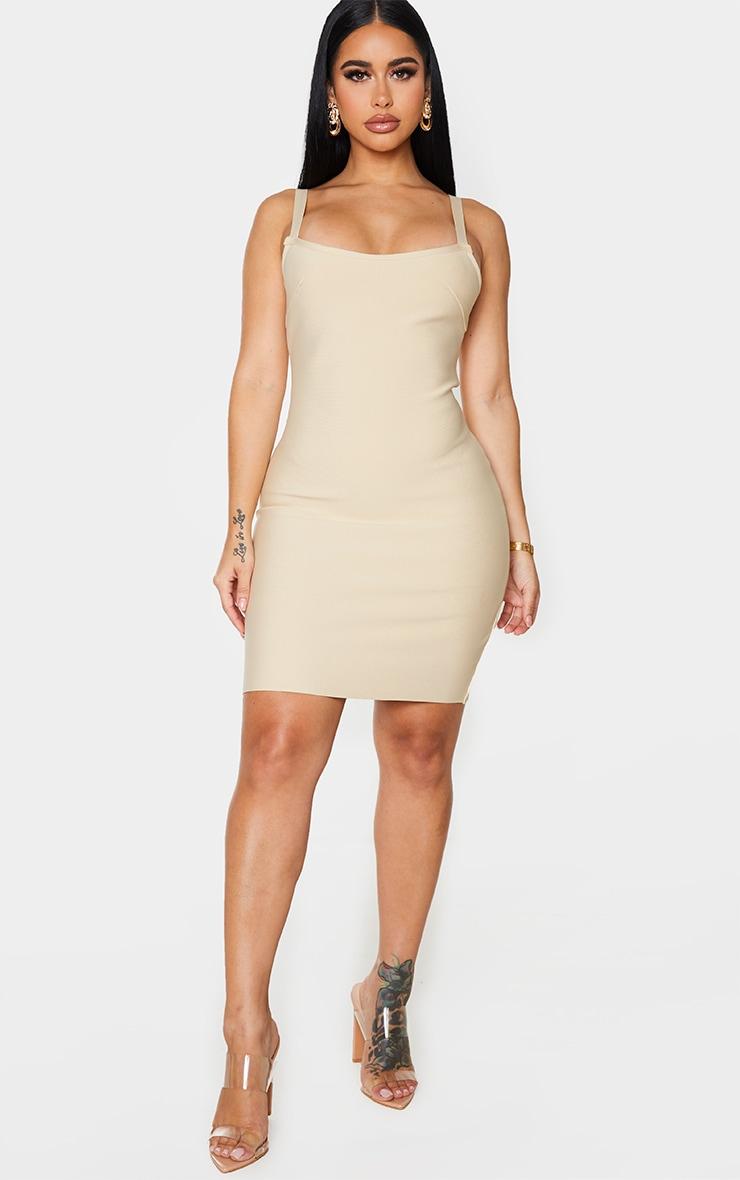 Shape Stone Bandage Strappy Bodycon Dress 3