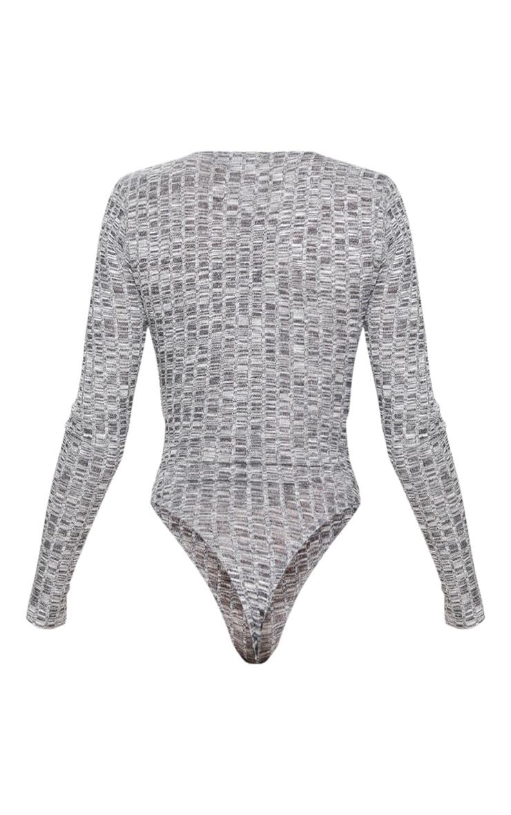 Body pull côtelé gris foncé style cache-coeur 6