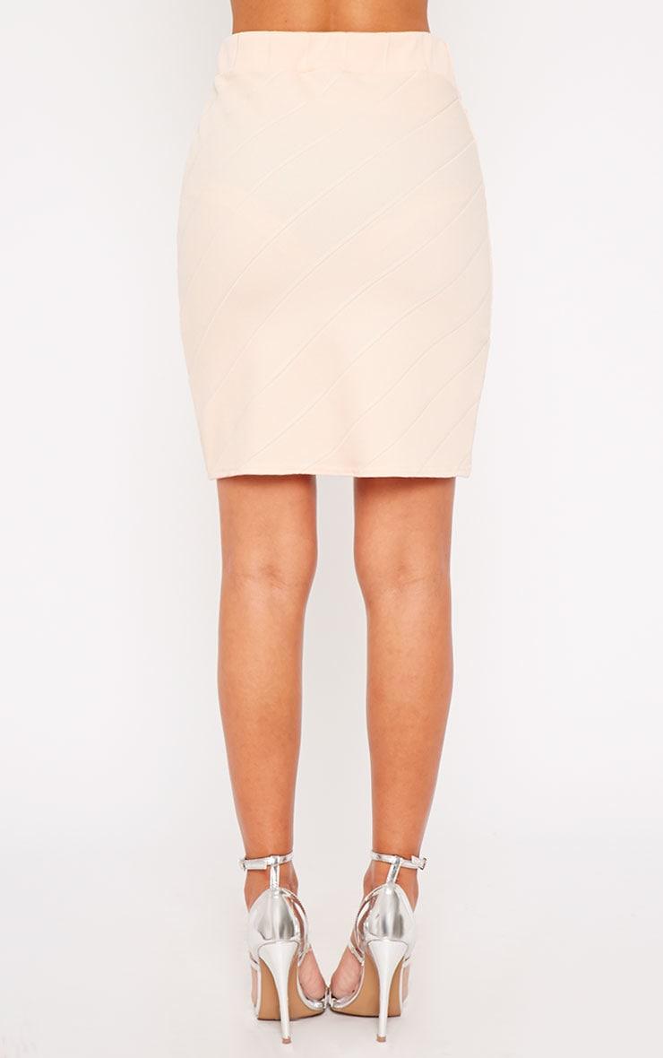 Kirsten Nude Bandage Mini Skirt 2