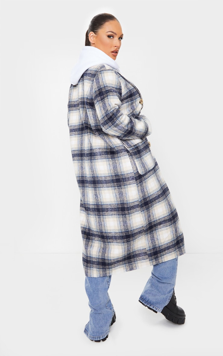 Blue Check Tortoise Mid Axis Coat 1