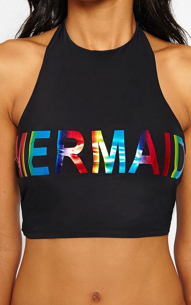 Savanna Black Mermaid Bikini Top 6