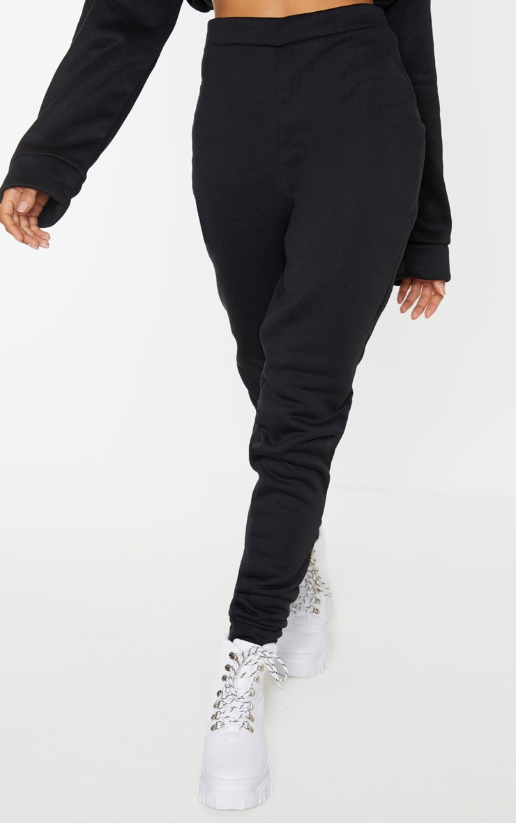 Black Basic Fleece Jogger 4