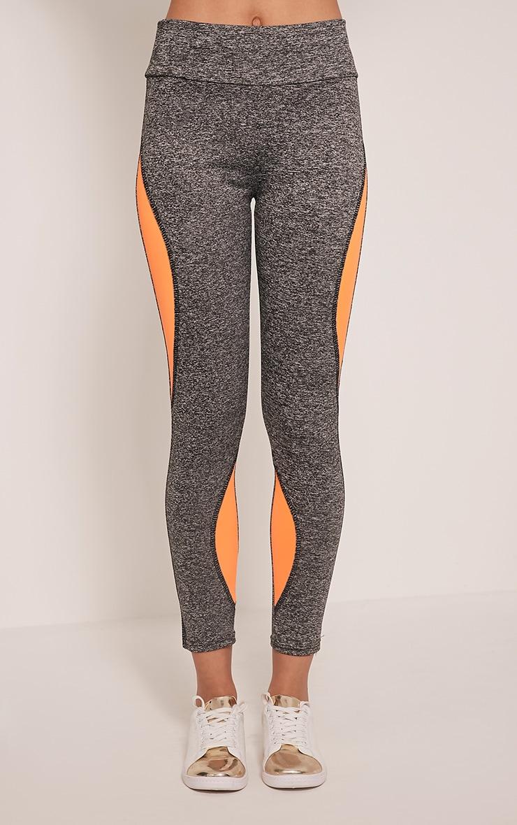 Jennie leggings sport à bandes orange 2