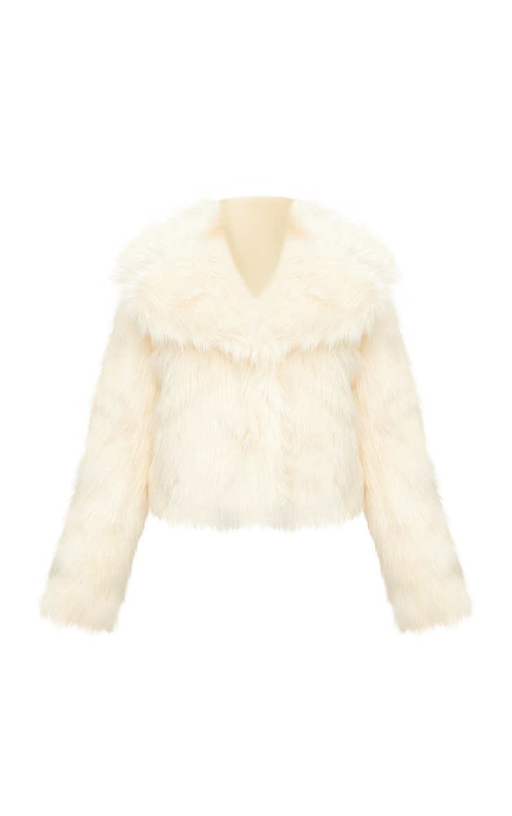 Cream Faux Fur Jacket 3