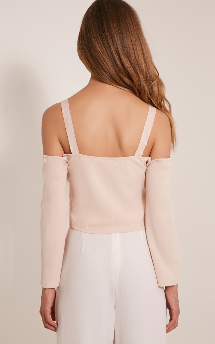 Audra Nude Drop Arm Crop Top 2
