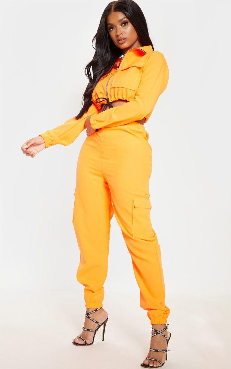 Shape Neon Orange Utility Jogger 1