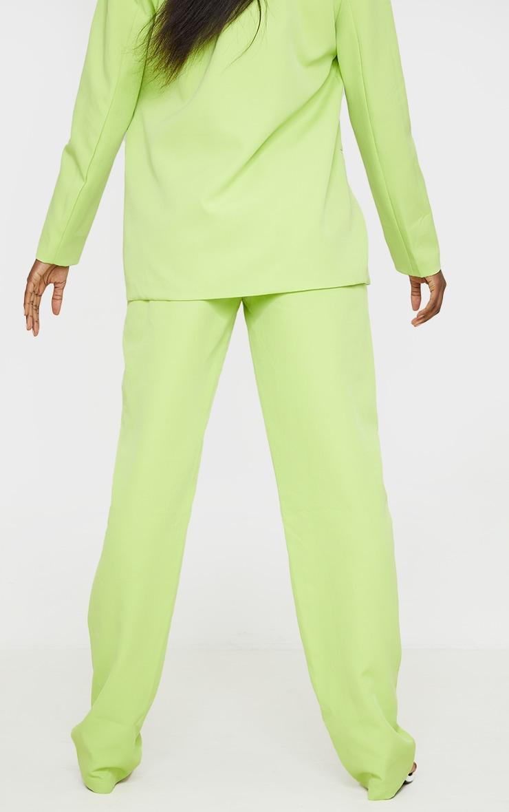 Tall Lime Elasticated Waistband Wide Leg Pants 3