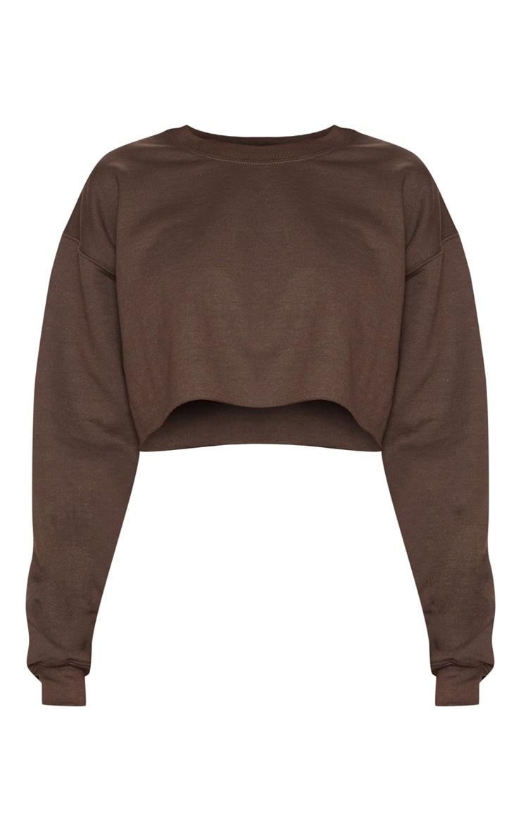 Chocolate Ultimate Crop Sweater 3