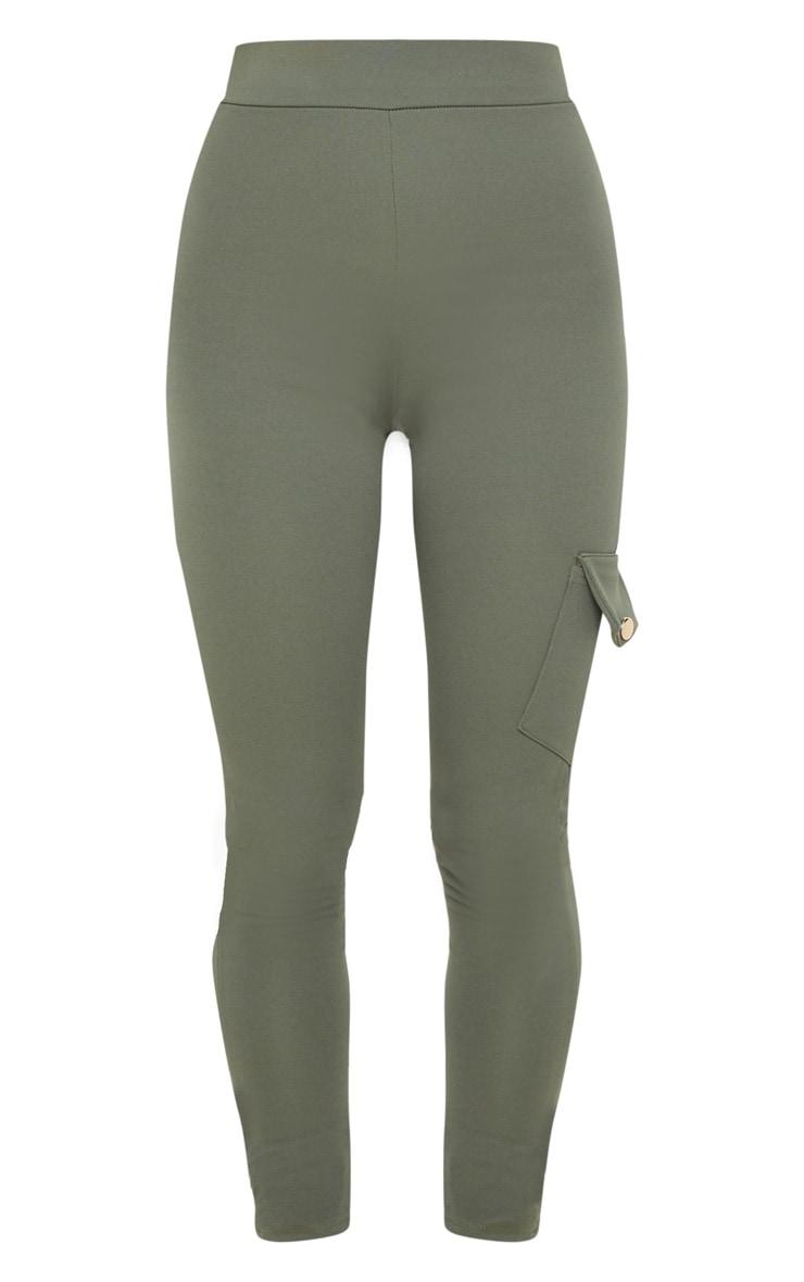 Khaki Scuba Pocket Detail Cargo Trouser 3