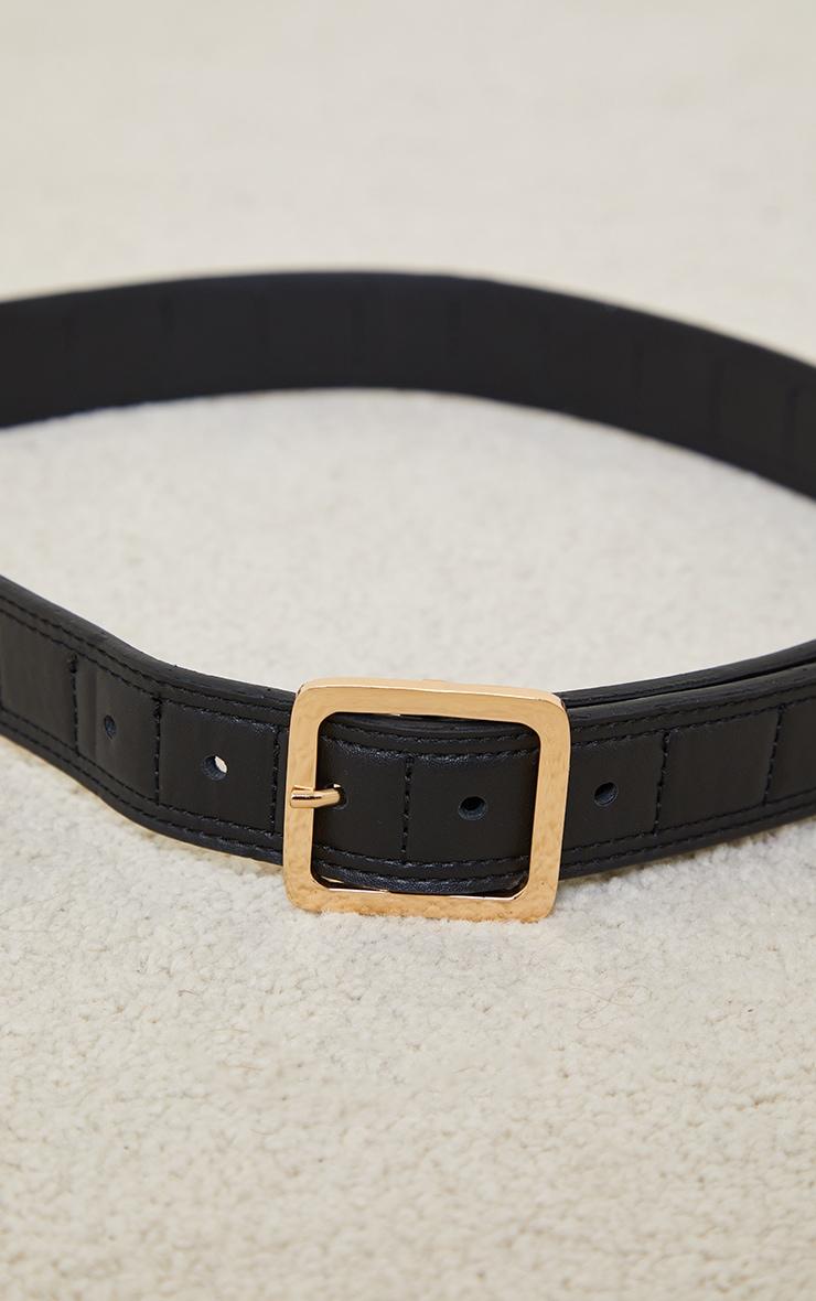 Black Quilted Waist Belt 2