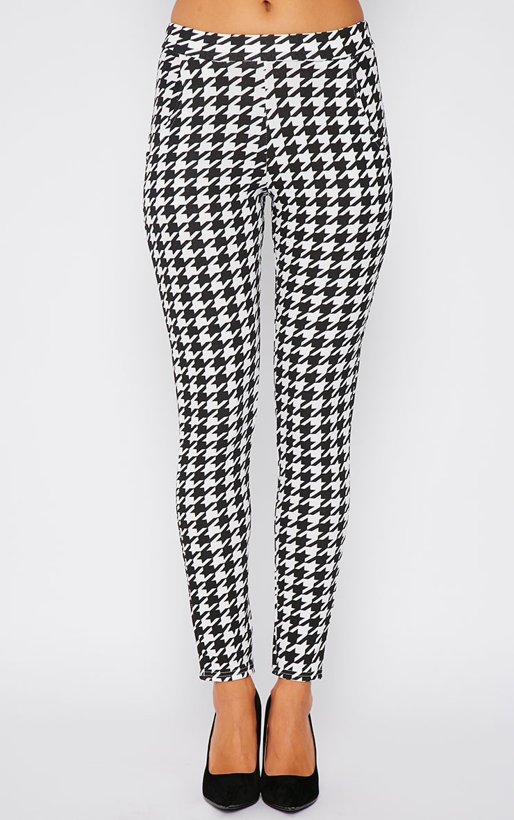 Kavita Monochrome Dogtooth Cigarette Trousers 5