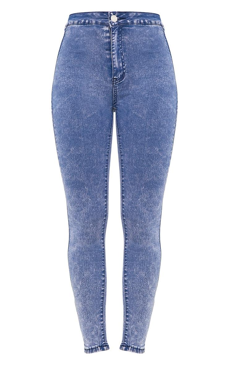 Zahlie Bleach Wash Skinny Jean 3