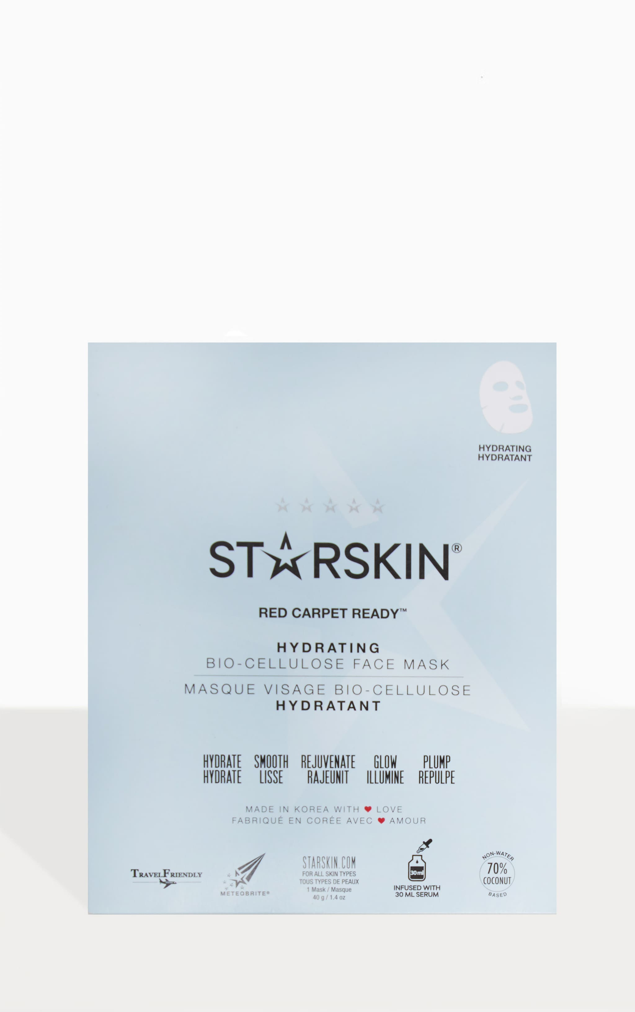 Starskin Red Carpet Ready Hydrating Coconut Bio Cellulose Face Mask 1