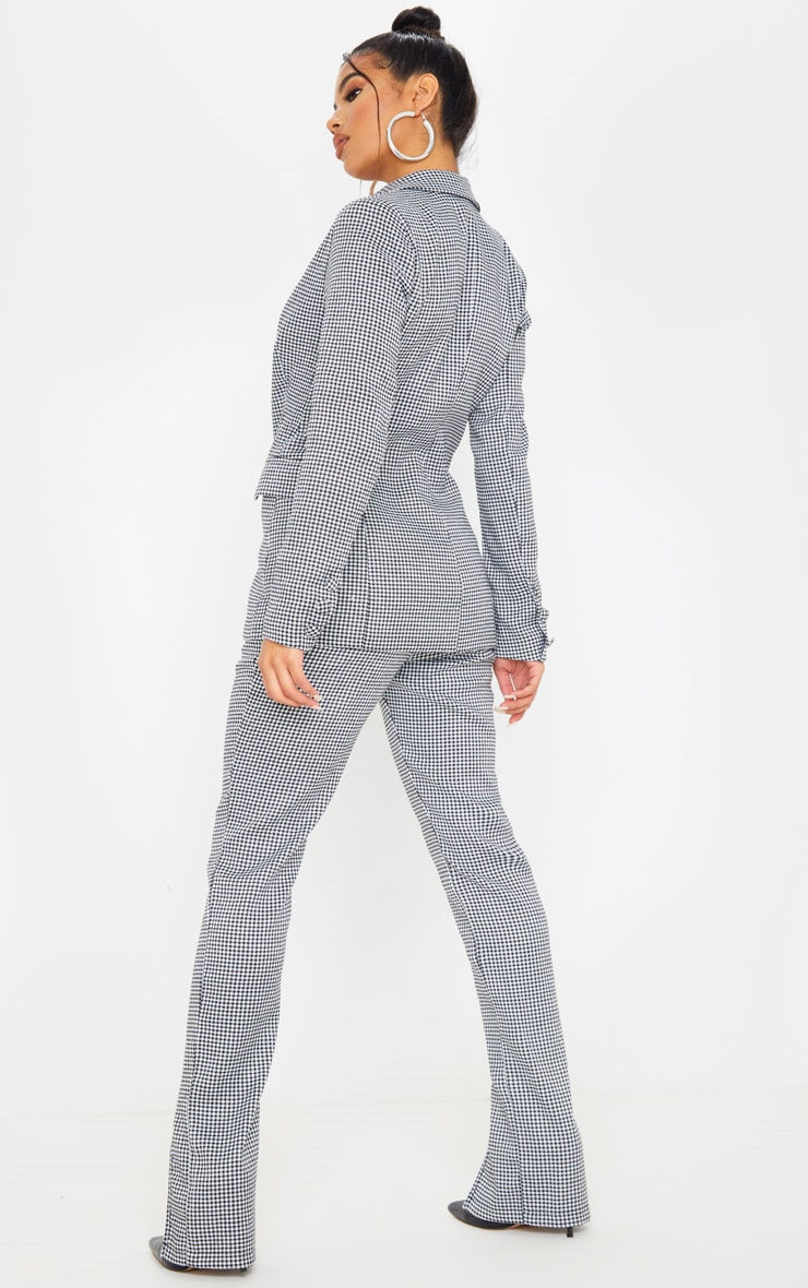 Dogtooth Pocket Front Double Breasted Blazer 2