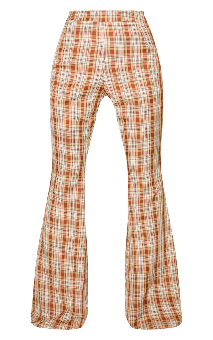 Multi Check Print Extreme Flare Trousers 4