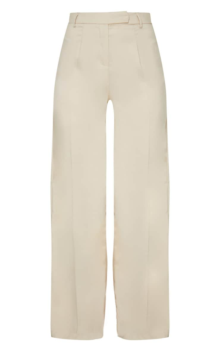 Stone Wide Leg Woven Trousers 5