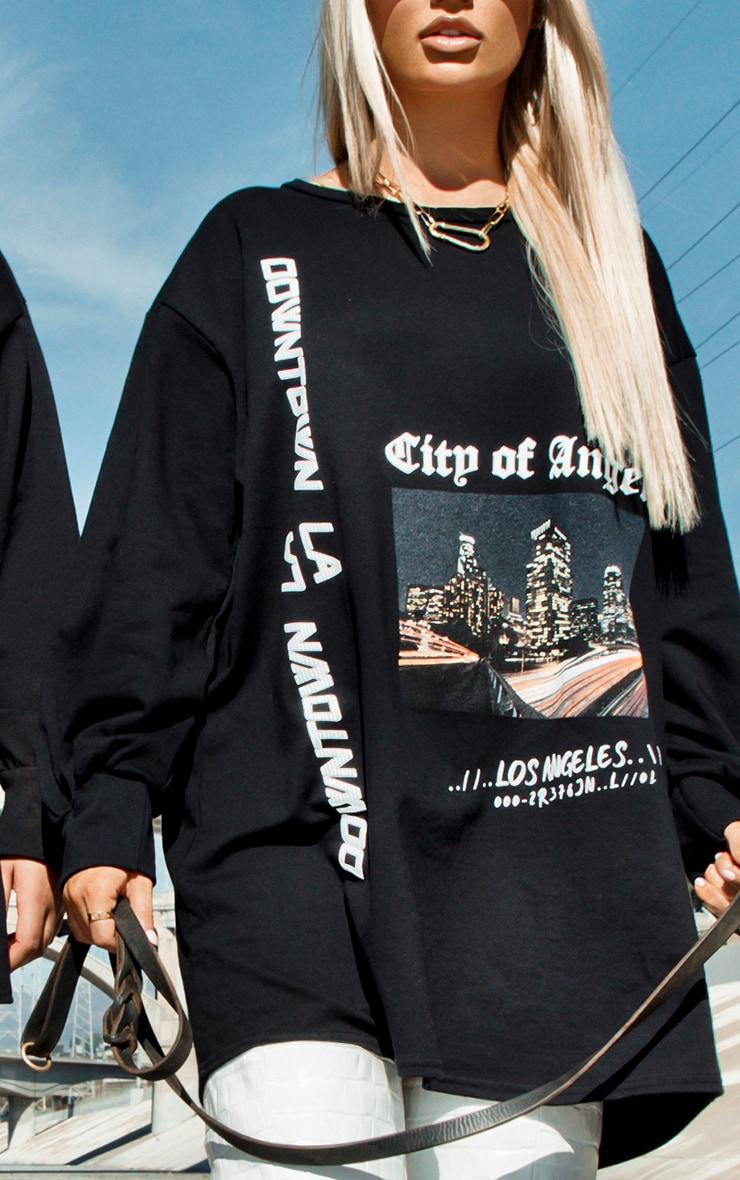 Los Angeles Black Oversized Sweater Dress 4
