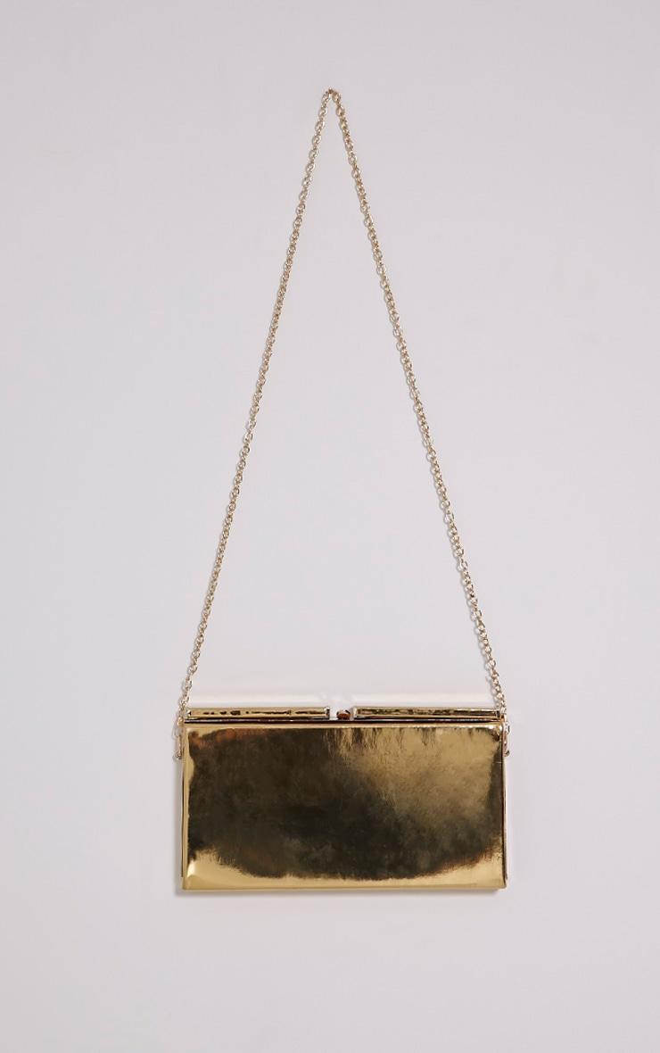 Solha Metallic Gold Clutch 3