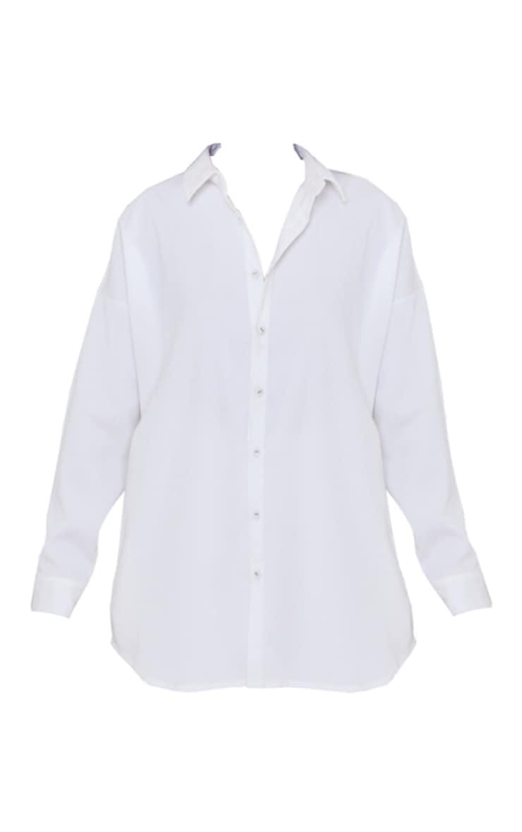 Cream Cord Long Sleeve Oversized Shirt 5