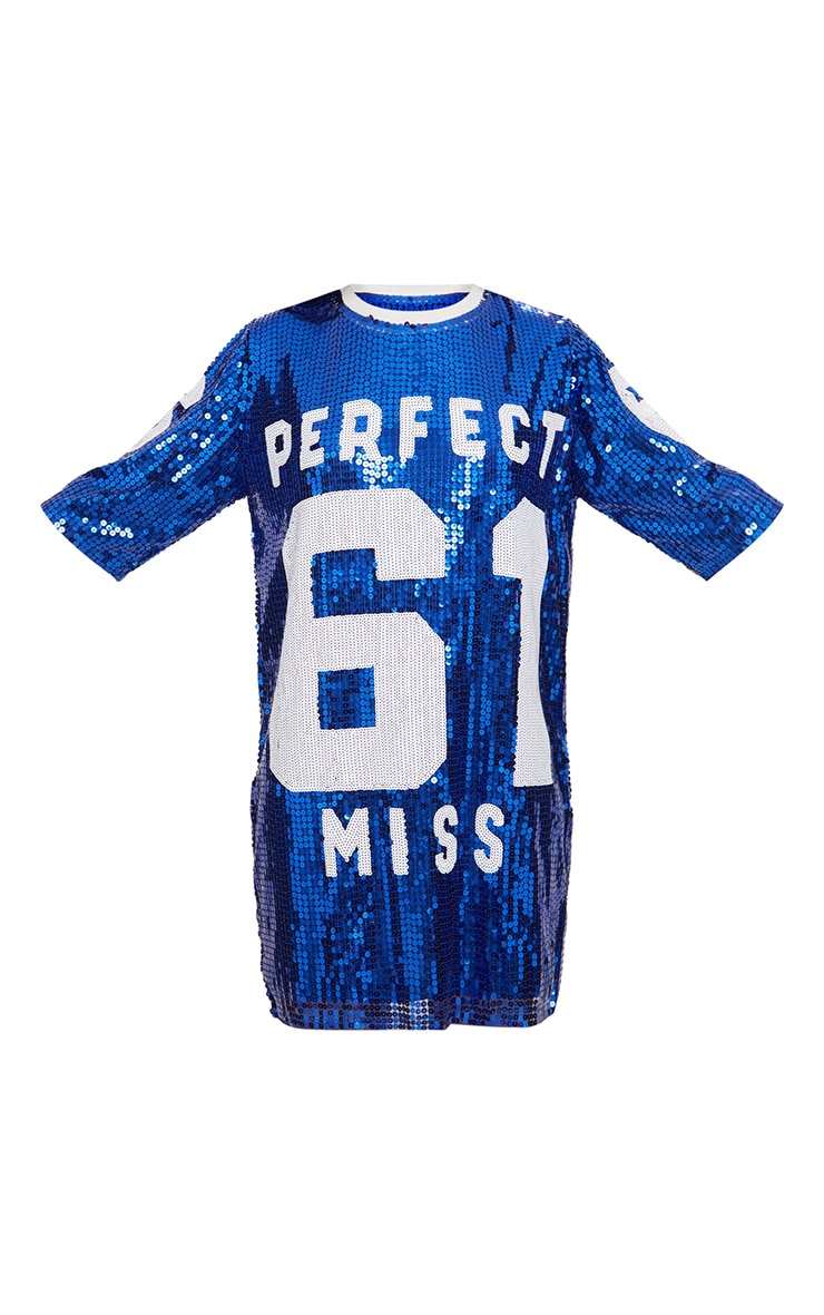 Cobalt Perfect Miss 61 Sequin T Shirt Dress 3