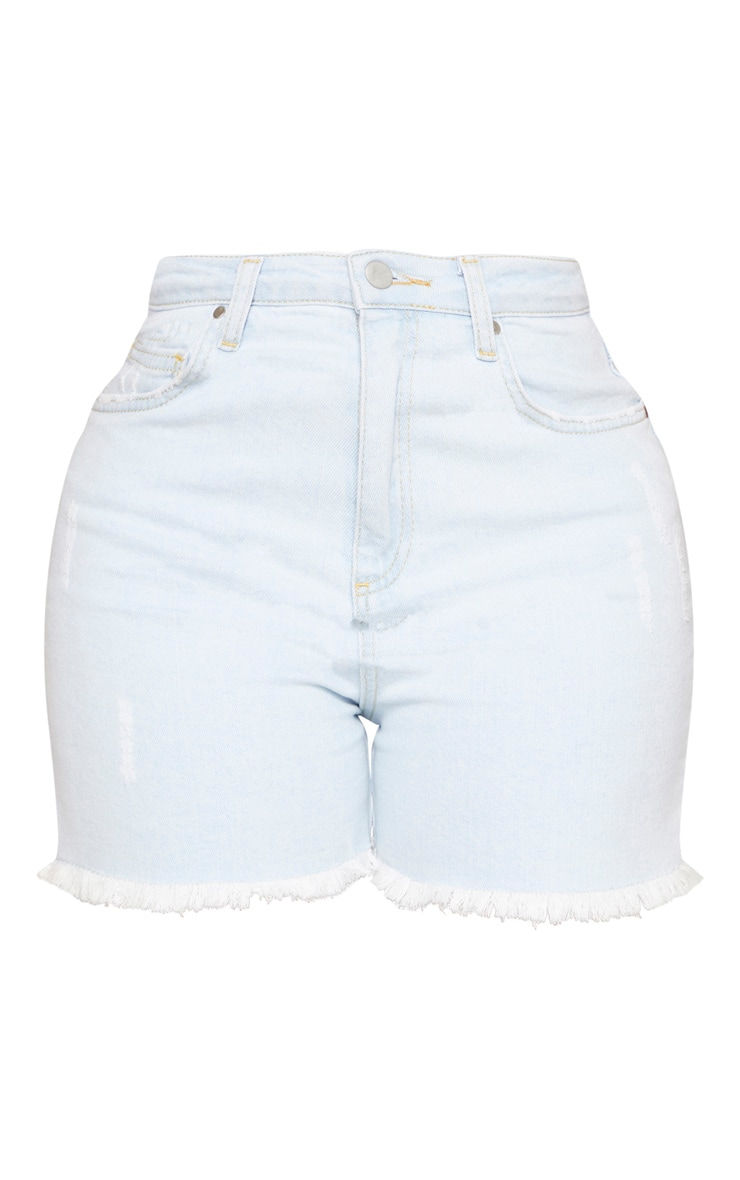 Shape Pale Blue High Waist Denim Shorts 3