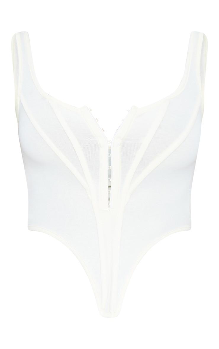 Cream Jersey Pointed Hem Corset 6