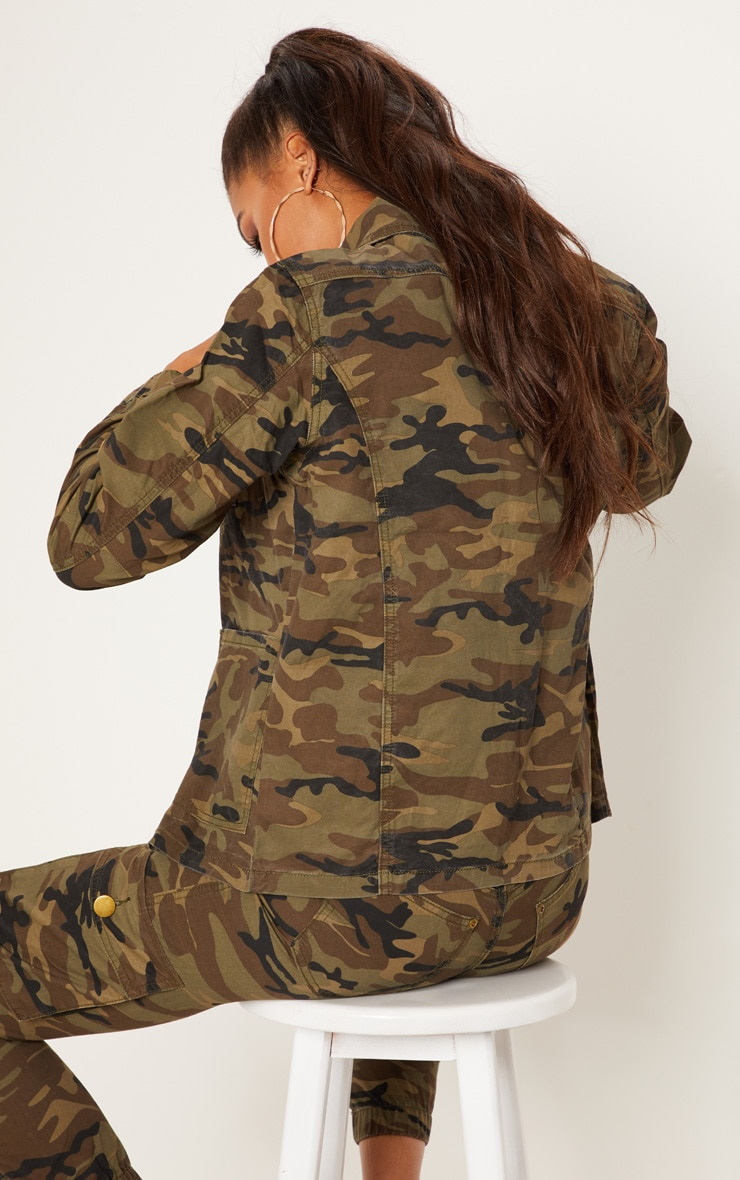 Camo Trucker Denim Jacket 2