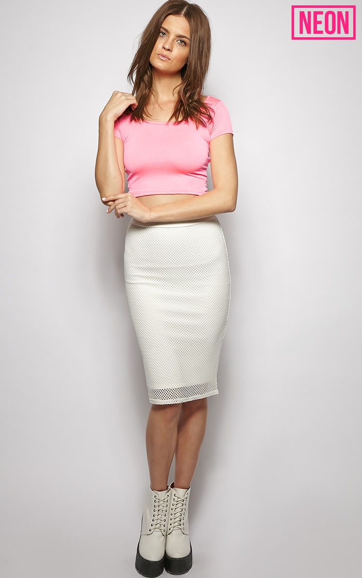 Bailey Pink Cut Out Crop Top 4
