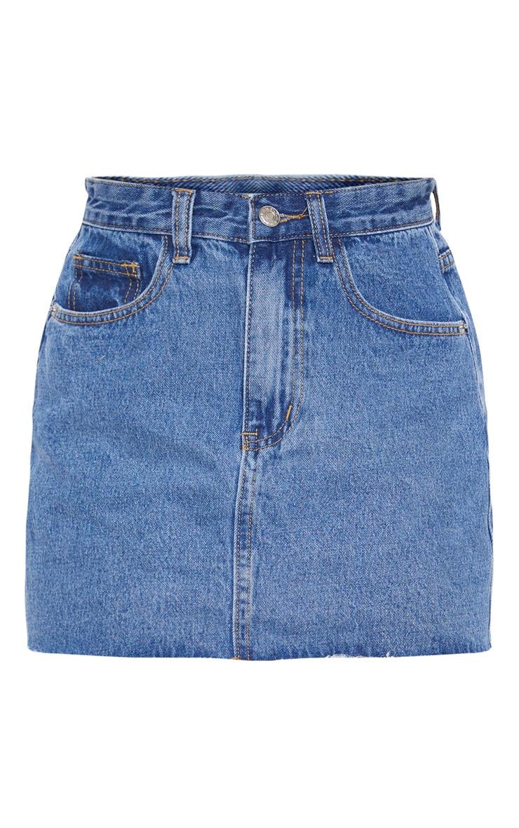 Mini-jupe en jean bleu  3