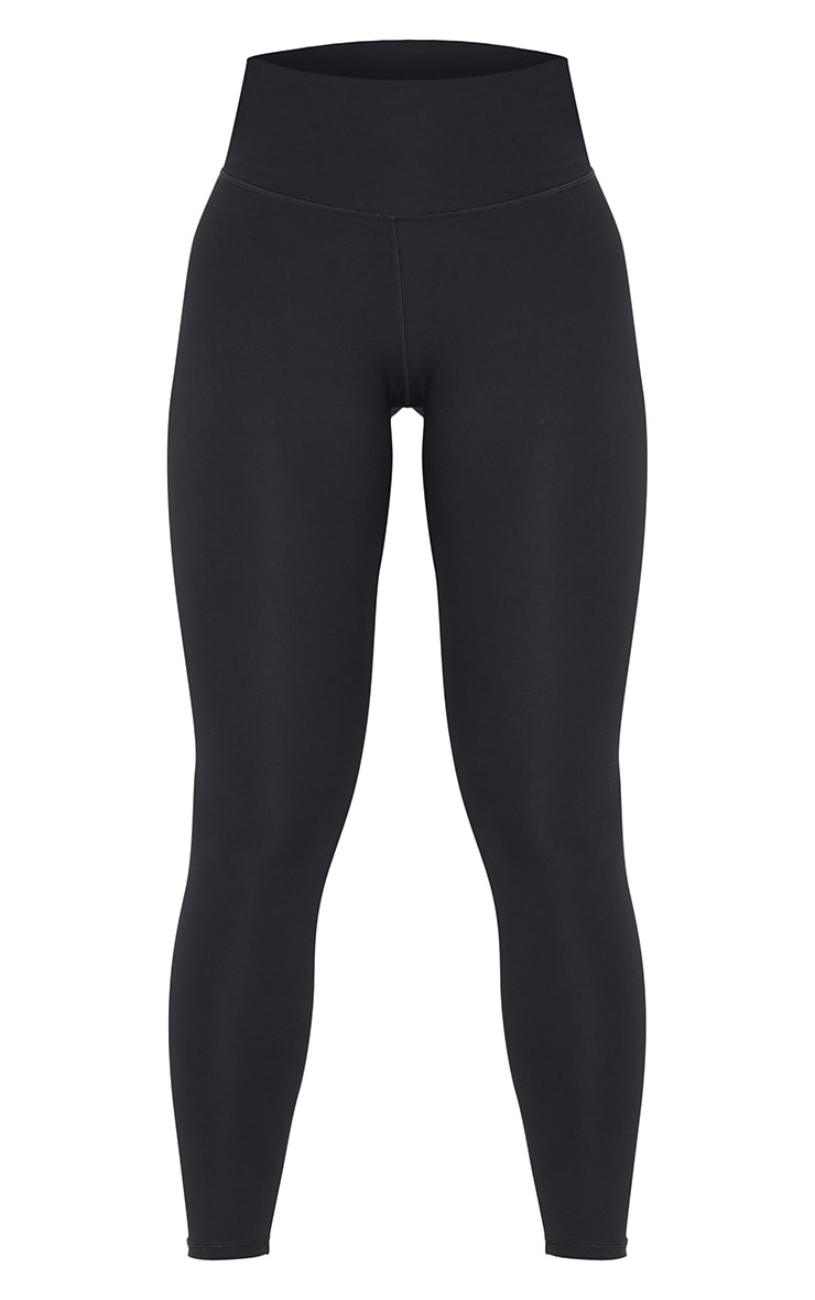 Black Brushed Luxe High Waist Cropped Gym Leggings 5