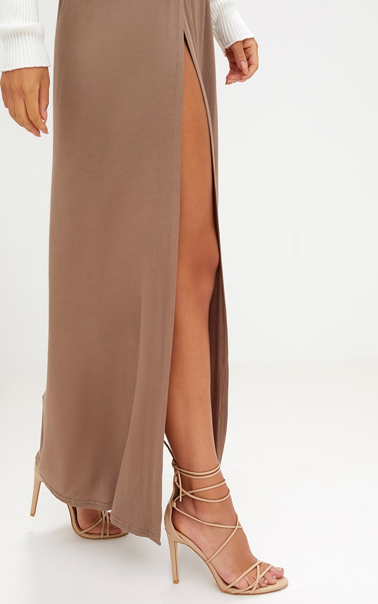 Mocha Double Split Maxi Skirt 5