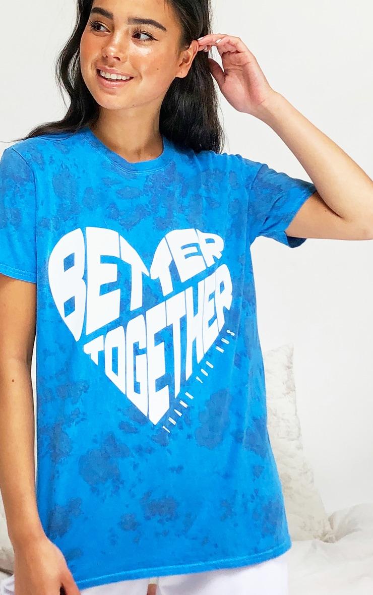 Blue NHS Tie Dye Better Together T Shirt 4