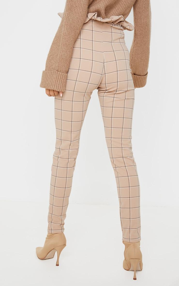 Stone Check Tweed Check Paperbag Skinny Pants 4
