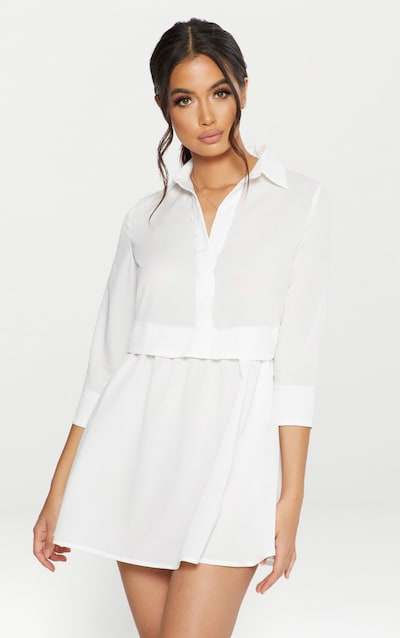ab195b75ad3 White Layer Shirt Dress